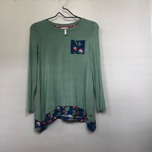Matilda Jane | size 12| green long sleeve tunic